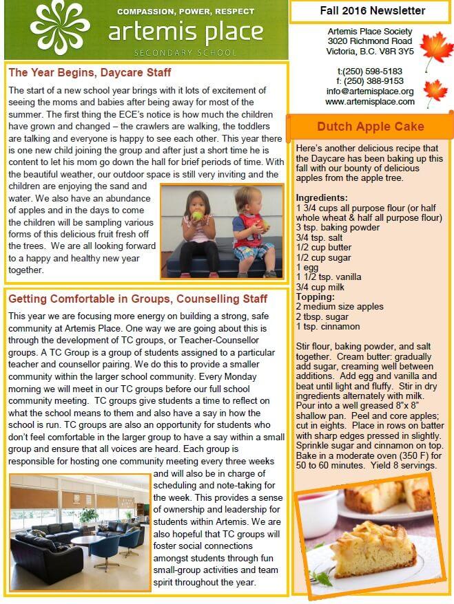 fall newsletter 2016
